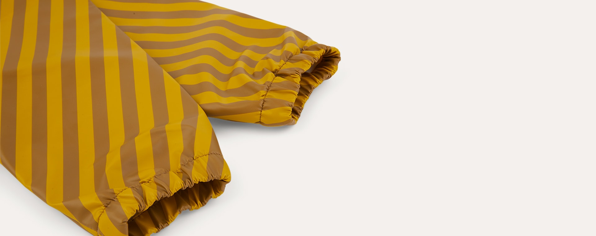 Mustard Stripe KIDLY Label Recycled Coverall Bib