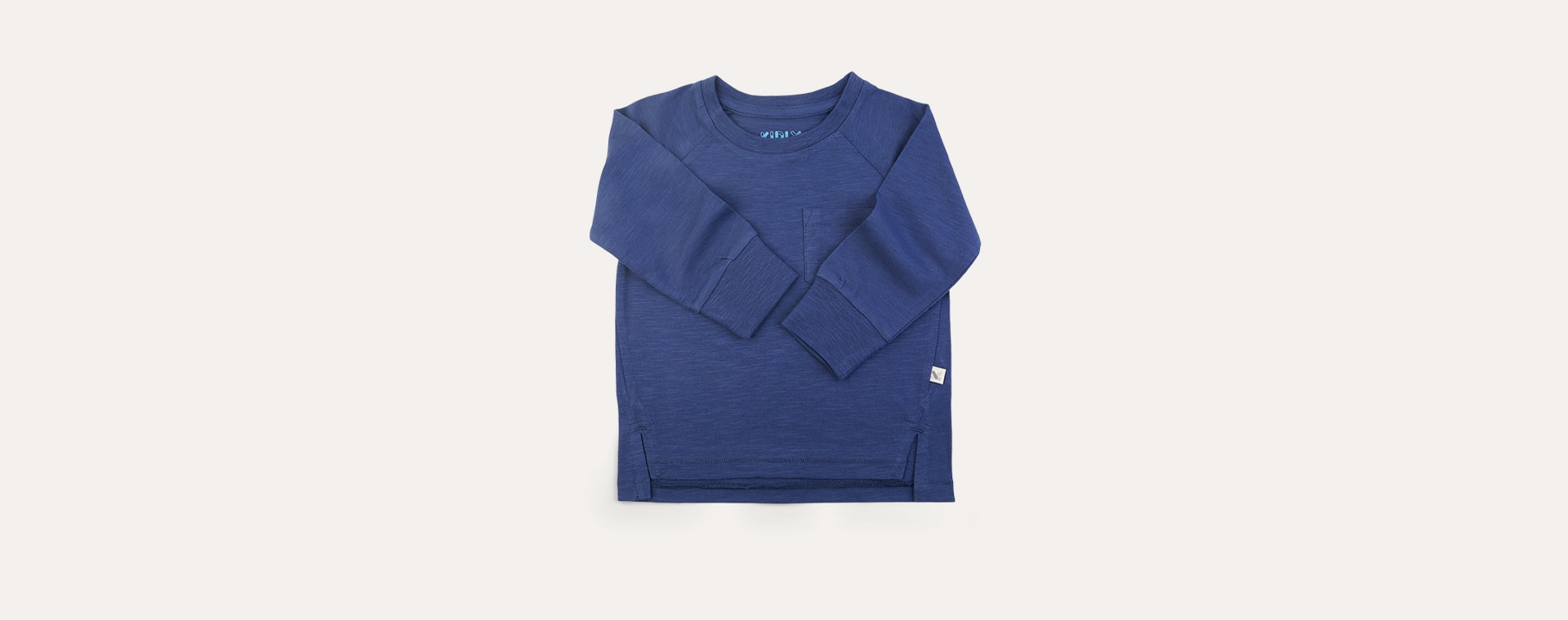 French Navy KIDLY Label Perfect Long Sleeve Tee