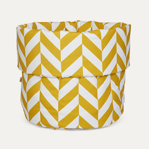 Mustard Herringbone wigiwama Big Toy Storage Bag