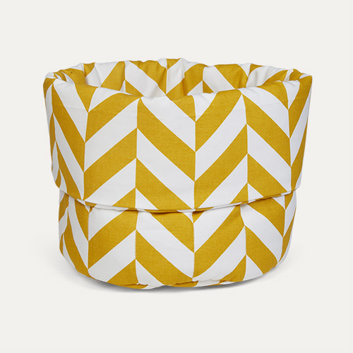 Mustard Herringbone wigiwama Small Toy Storage Bag