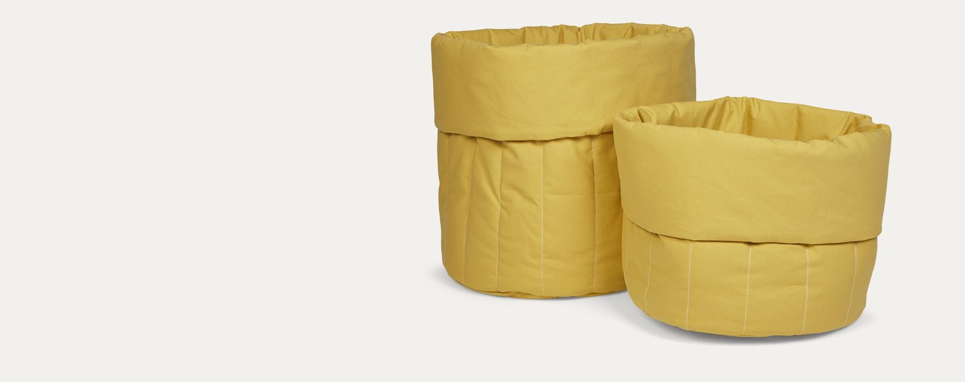 Sunny mustard wigiwama Small Toy Storage Bag