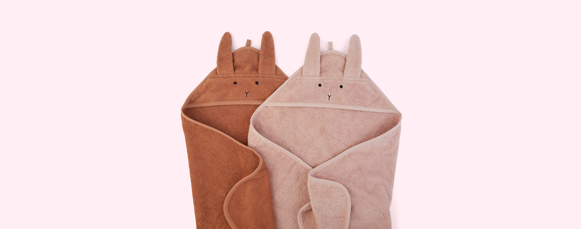 Rabbit Tuscany Rose Mix Liewood Albert Hooded Towel 2-pack