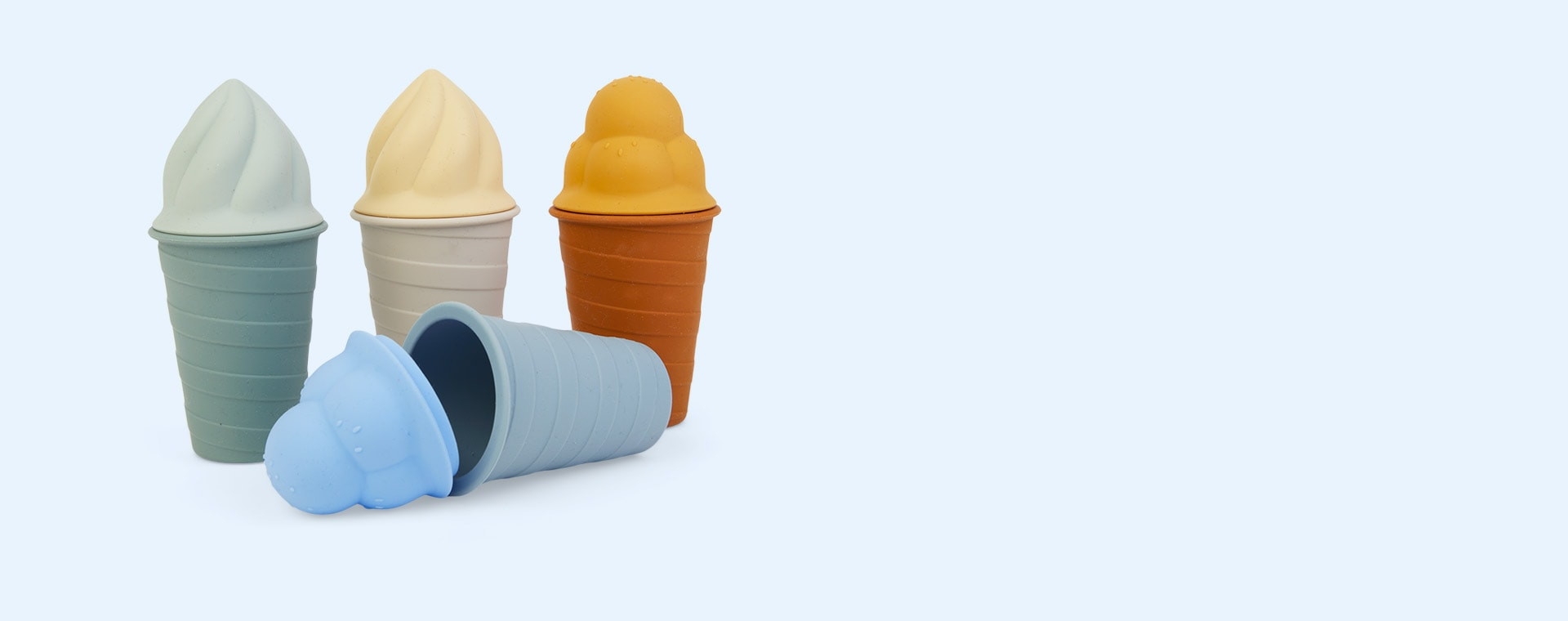 Sky Blue Multi Mix Liewood Bay Ice Cream Toy 4-pack