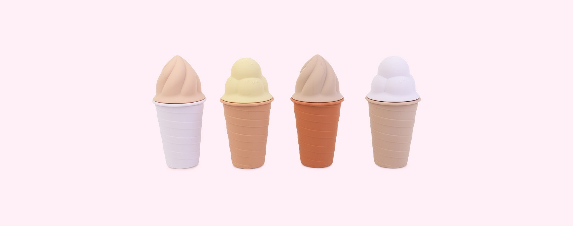 Rose Multi Mix Liewood Bay Ice Cream Toy 4-pack