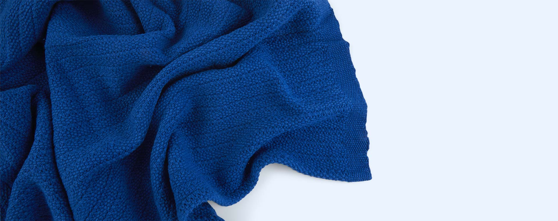 Classic Blue Hippychick Cellular Baby Blanket