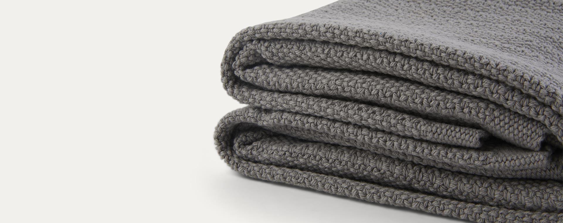 Slate Grey Hippychick Cellular Baby Blanket