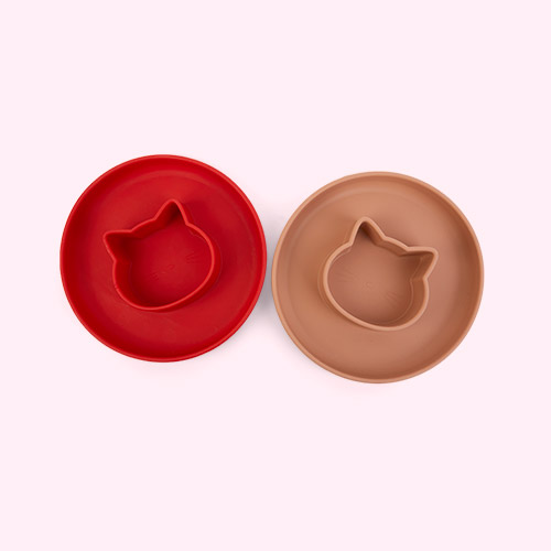 Cat Apple Red/Tuscany Rose Mix Liewood 2-Pack Gordon Plate