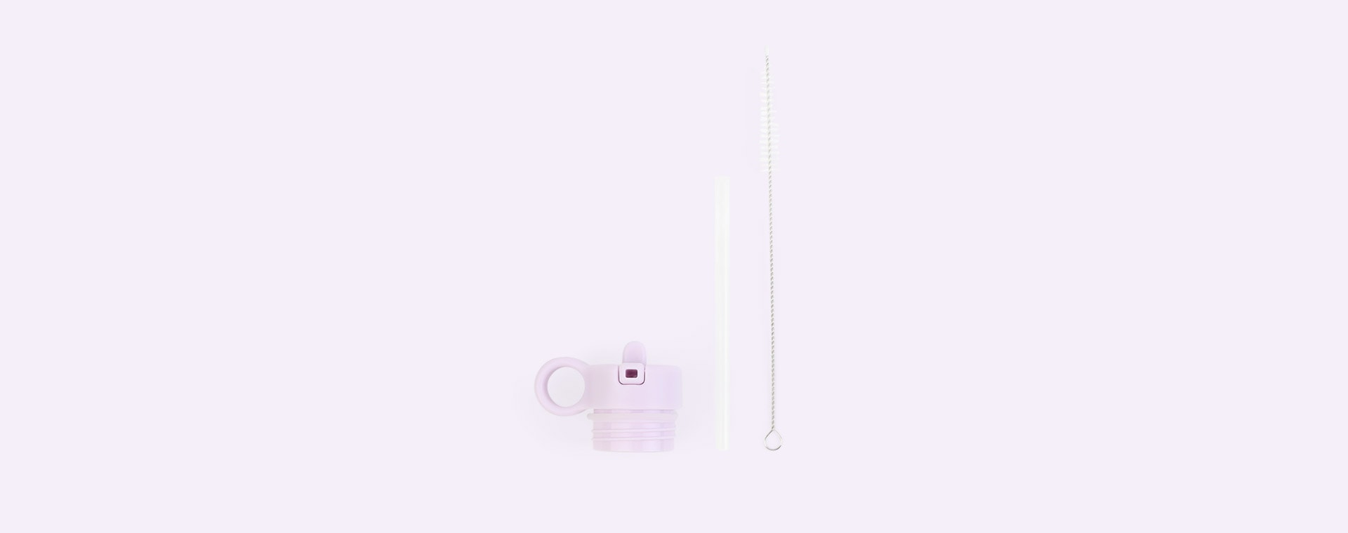 Light Lavender Liewood Anker Lid with Straw and Cleaning Brush
