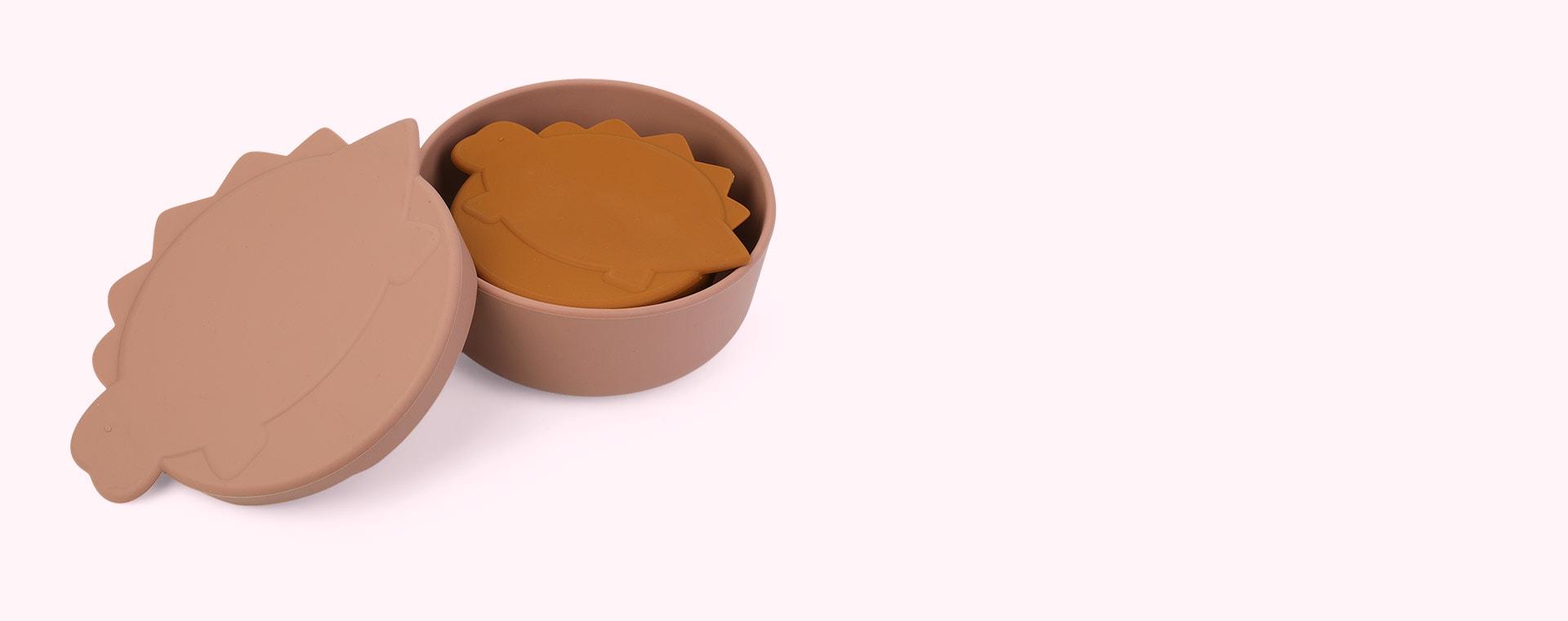 Dino Dark Rose/Mustard Mix Liewood Olav Snack Box 2-Pack