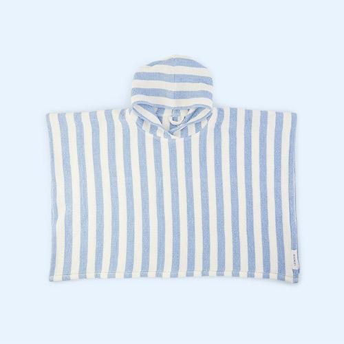 Stripe: Sky Blue/Crème de la Crème Liewood Paco Poncho
