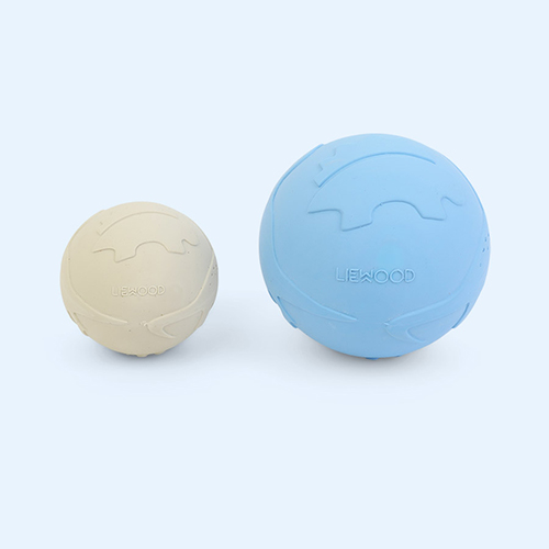 Dino Sandy Sea Blue Mix Liewood Thea Baby Ball 2-pack