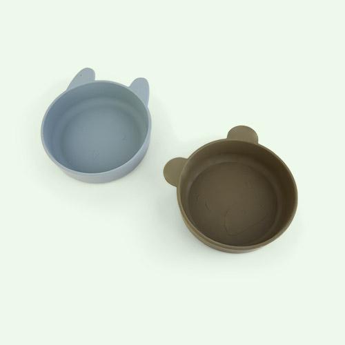 Blue Fog/Khaki Mix Liewood Vanessa Bowl 2-pack