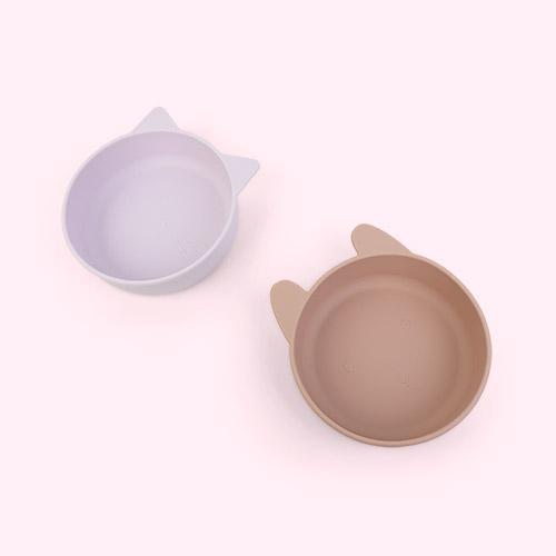 Light Lavender Rose Mix Liewood Vanessa Bowl 2-pack