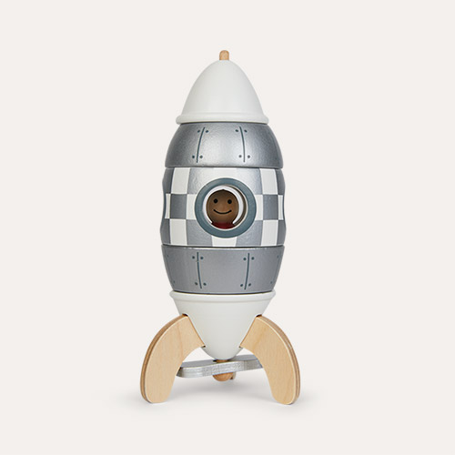Grey Janod Silver Magnetic Rocket