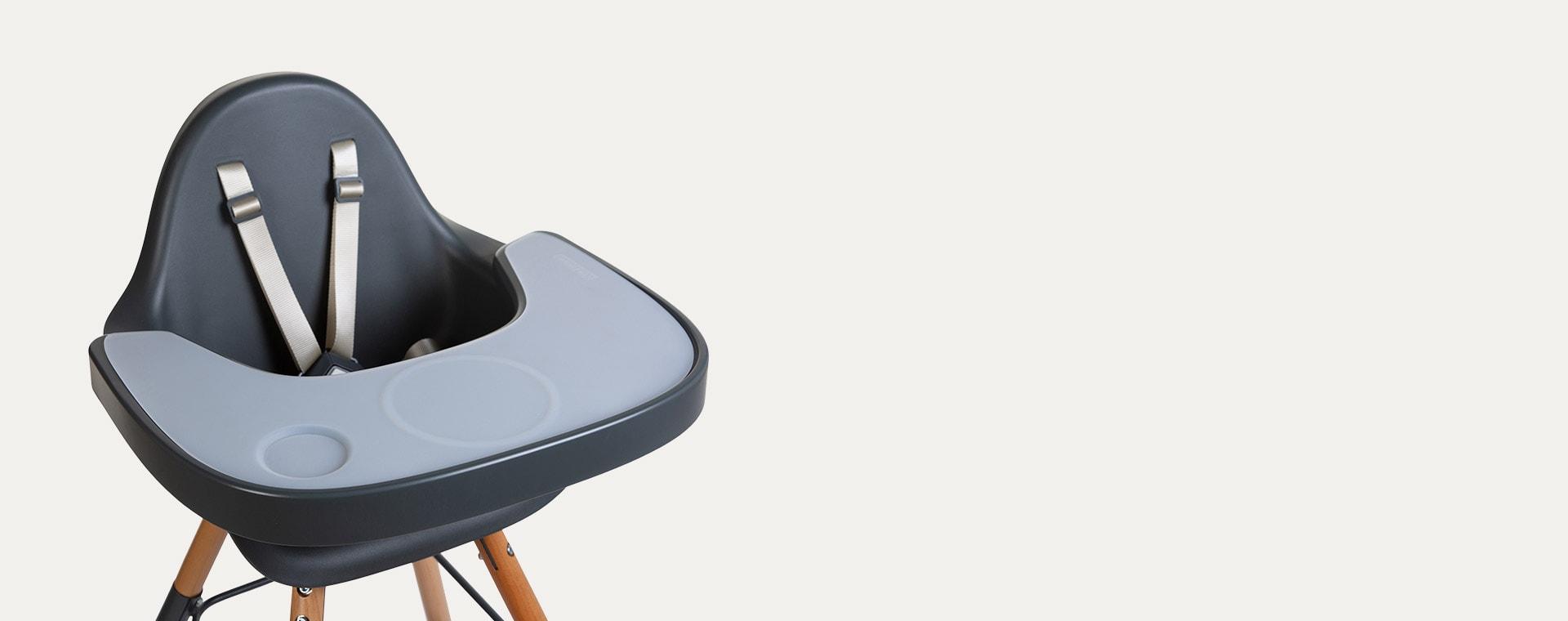 Grey Childhome Evolu Silicone Highchair Tray