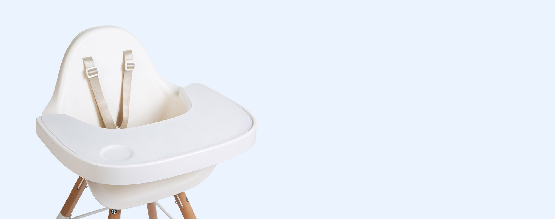 White Childhome Evolu Silicone Highchair Tray
