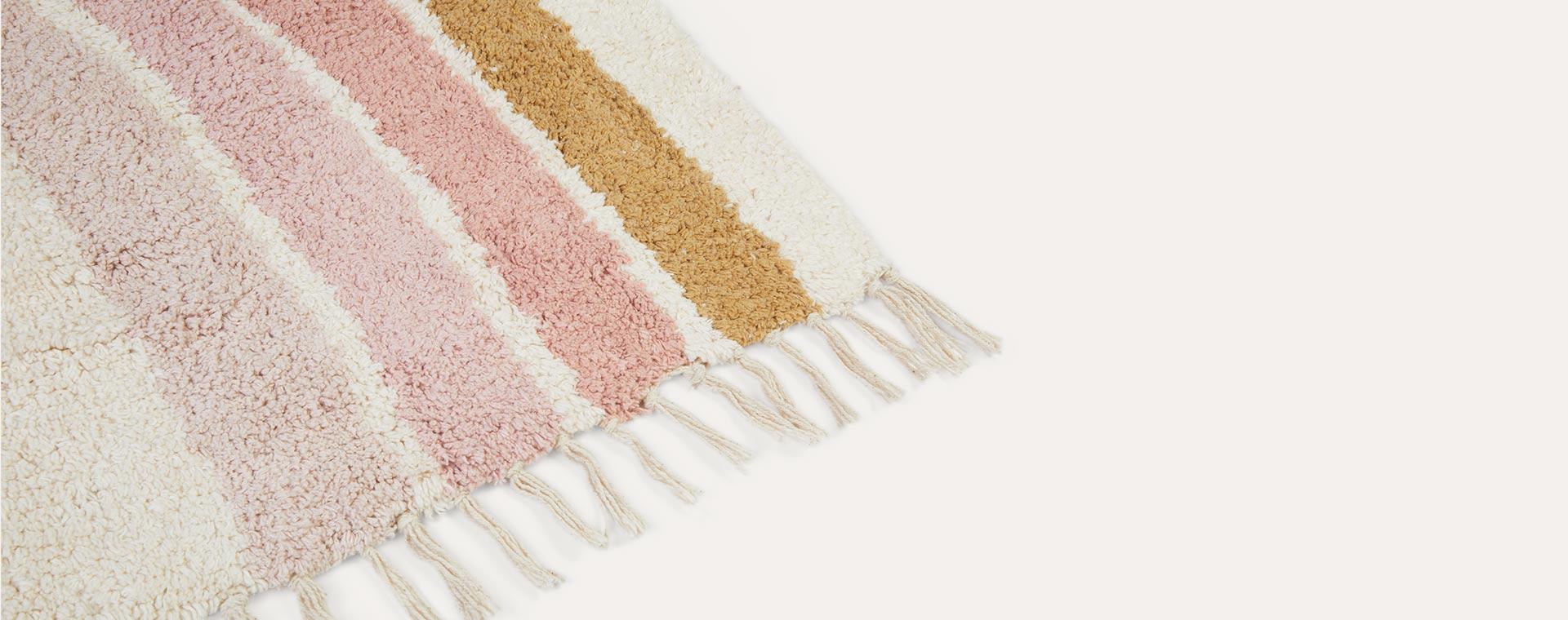Pink Ocher Tapis Petit Rainbow Rug
