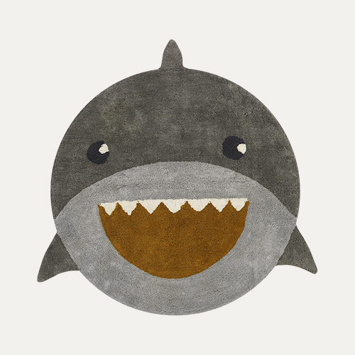 Grey Tapis Petit Shark Rug