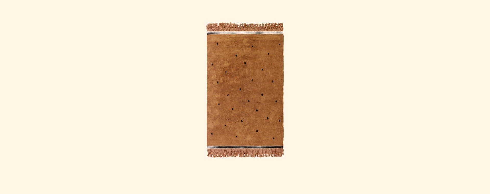 Light Brown Tapis Petit Semmie Dotty Rug