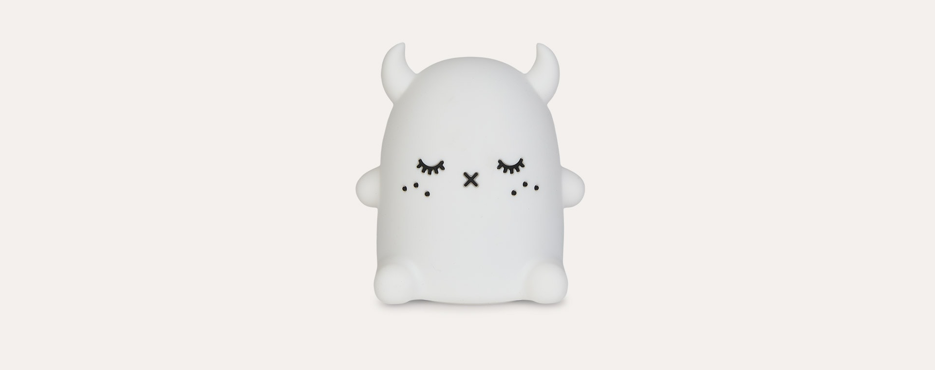Whie Ricepuffy Noodoll Silicone Night Light