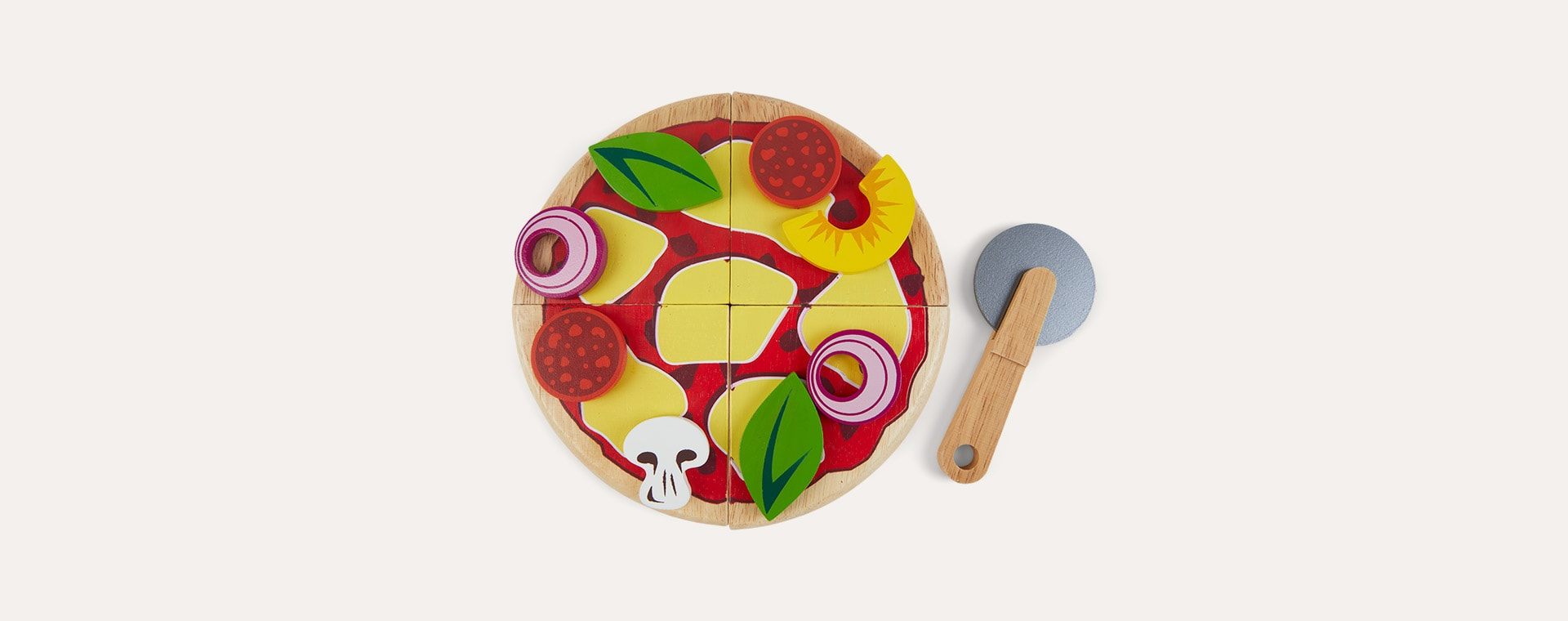 Multi Le Toy Van Wooden Pizza