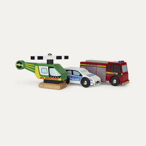 Multi Le Toy Van Emergency Vehicle Set