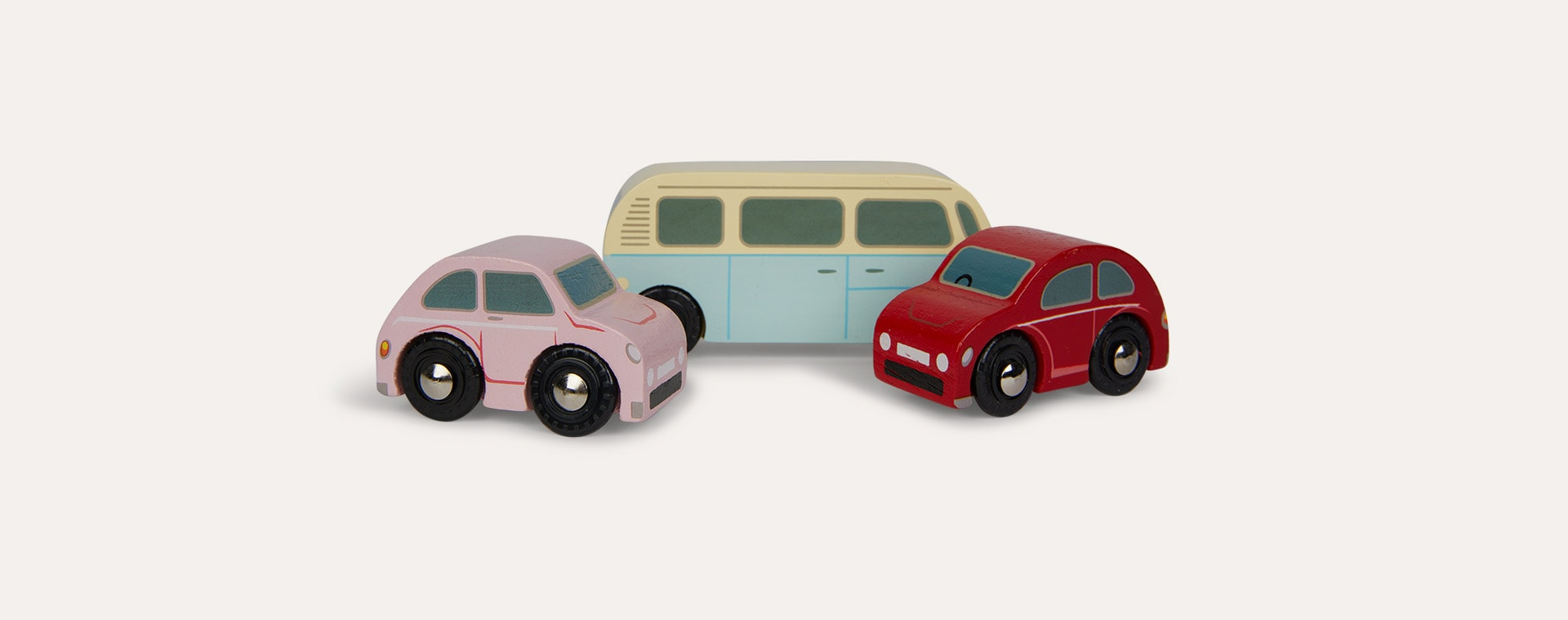 Multi Le Toy Van Retro Metro Car Set