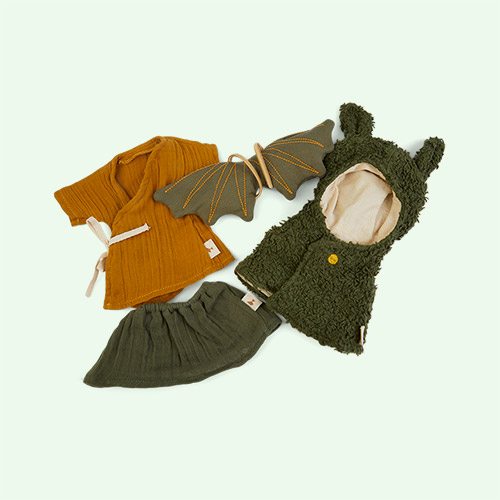 Green Fabelab Doll Clothes Set - Dragon Cape