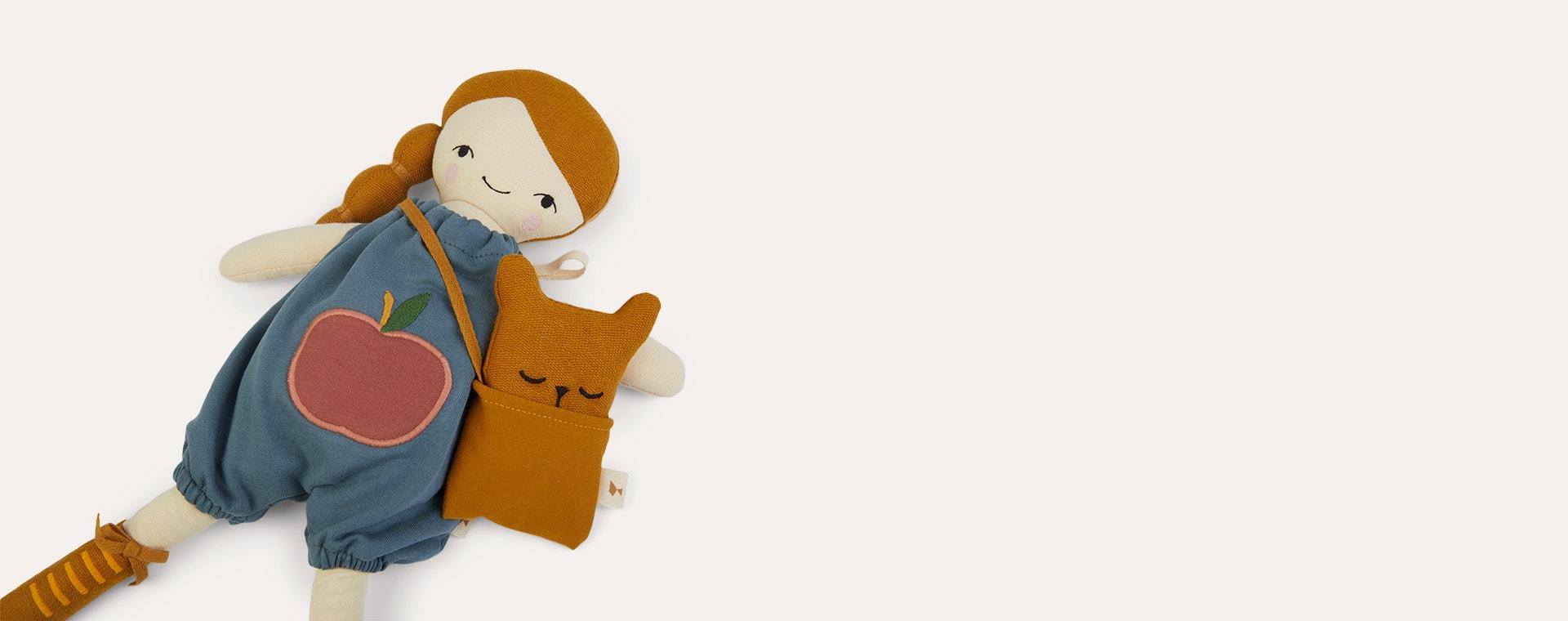 Brown Fabelab Doll Clothes Set - Bear Cape