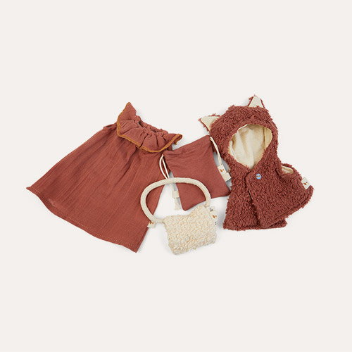 Orange Fabelab Doll Clothes Set - Fox Cape