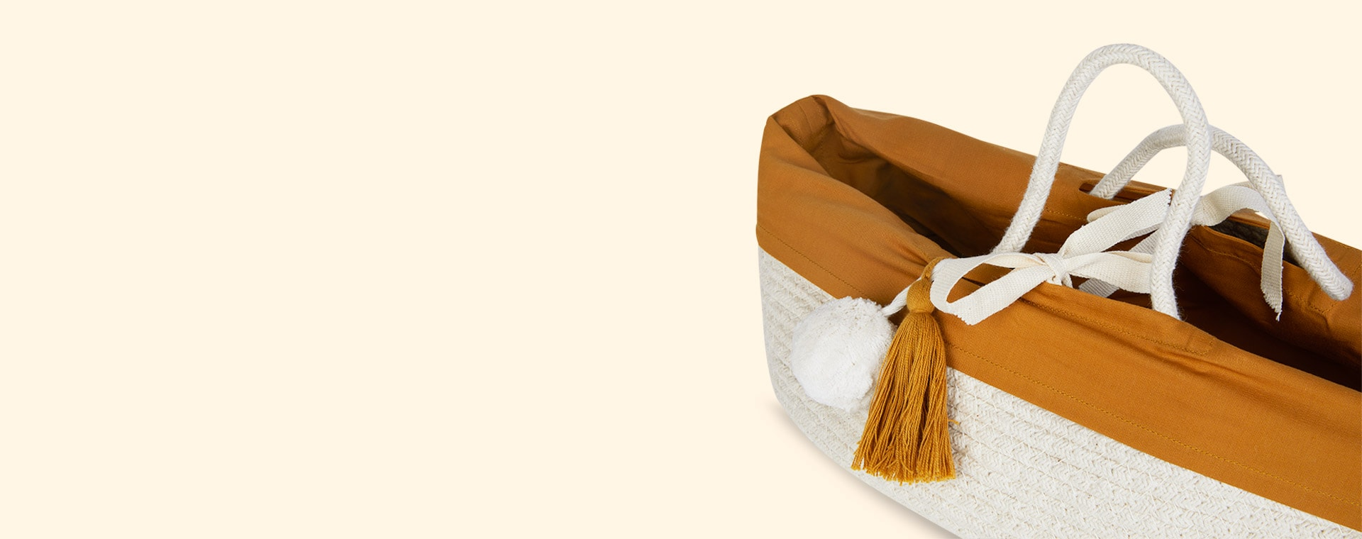 Ochre Fabelab Doll Basket With Cover