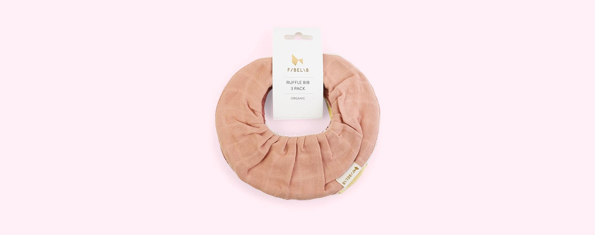 Pastel Flower Fabelab 3-Pack Ruffle Bib