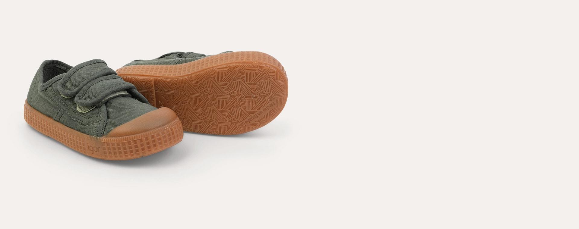 Kaki igor Berri Velcro Caramelo