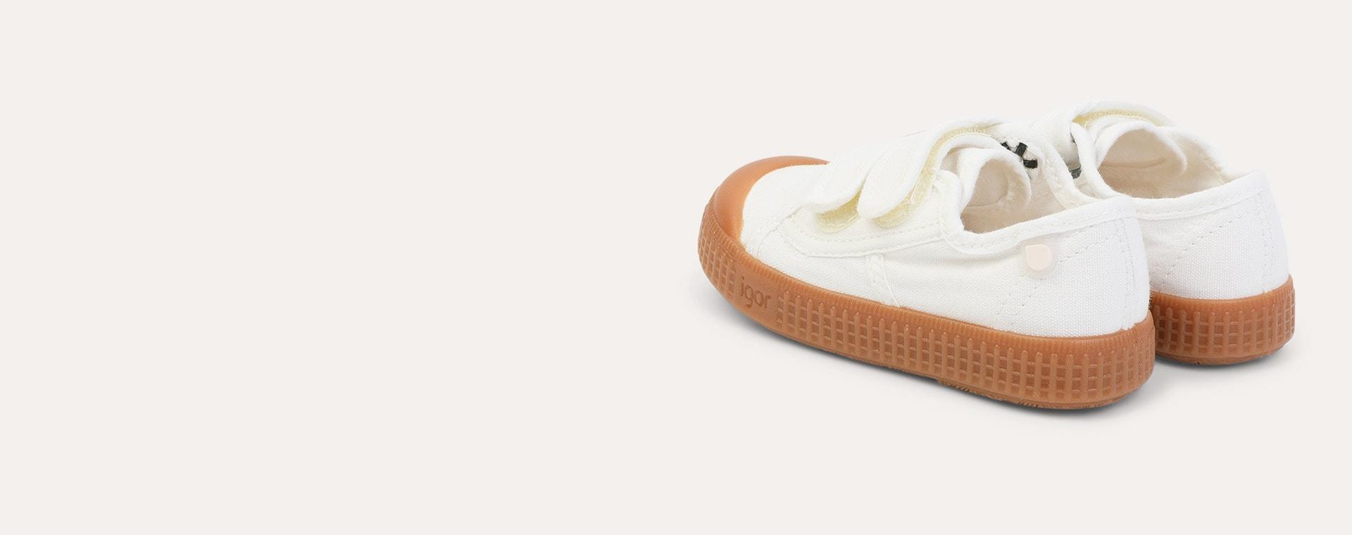 White igor Berri Velcro Caramelo