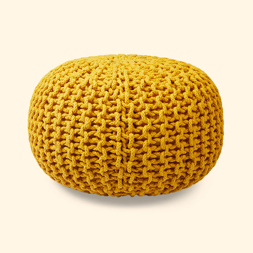 Yellow Kids Depot Pouf