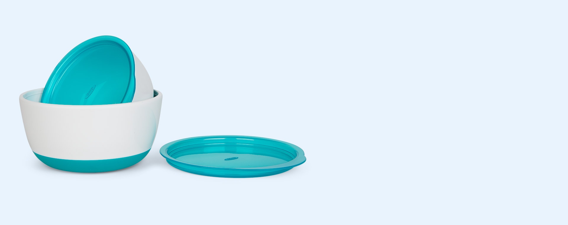 Teal Oxo Tot Small and Large Bowl Set