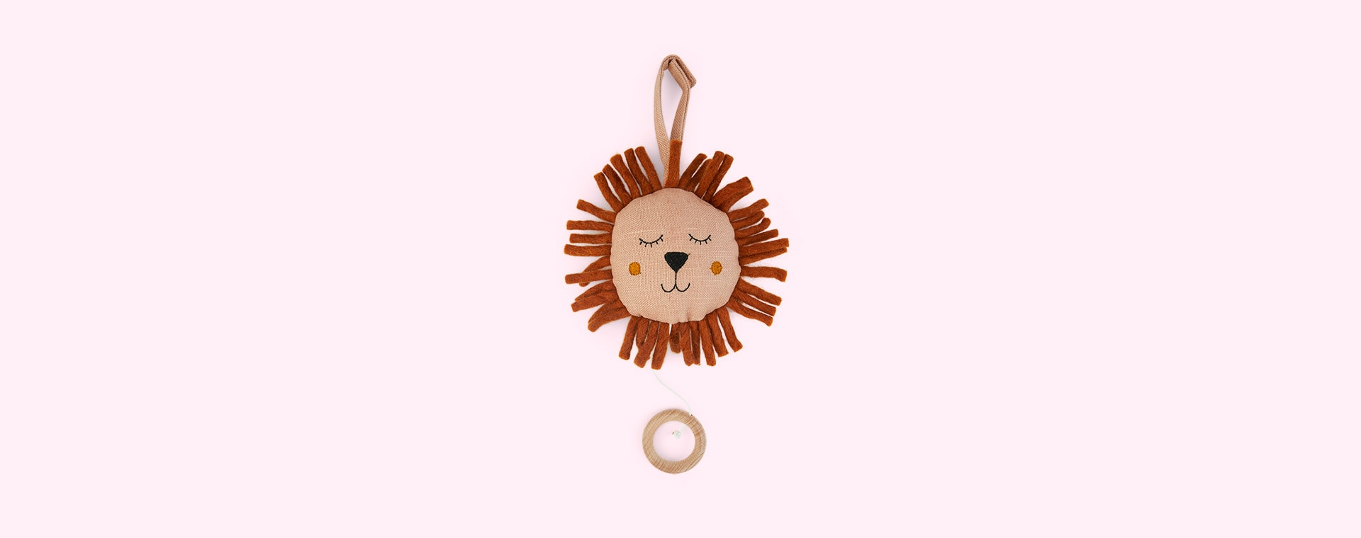 Pink Ferm Living Lion Music Mobile