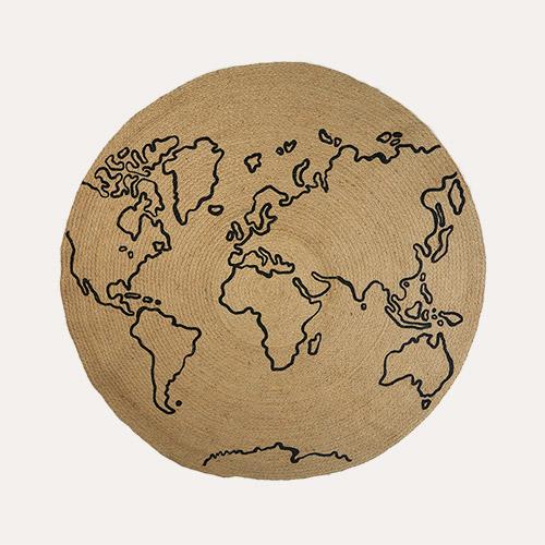 Neutral Ferm Living World Jute Carpet