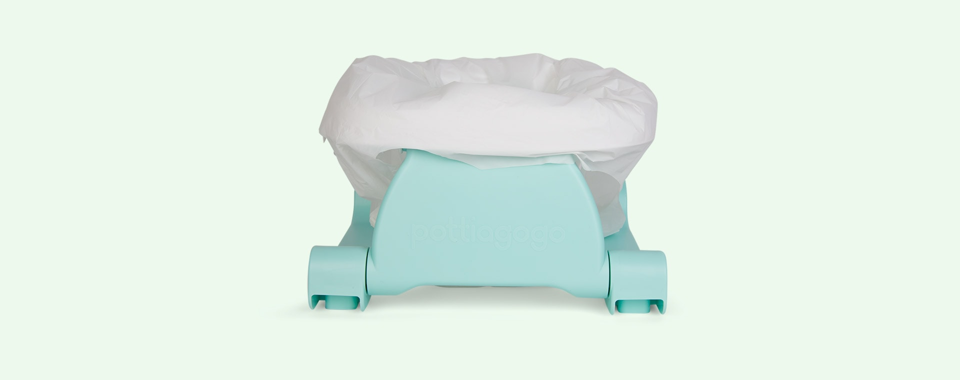 Egg Shell Blue Pottiagogo Folding Travel Potty