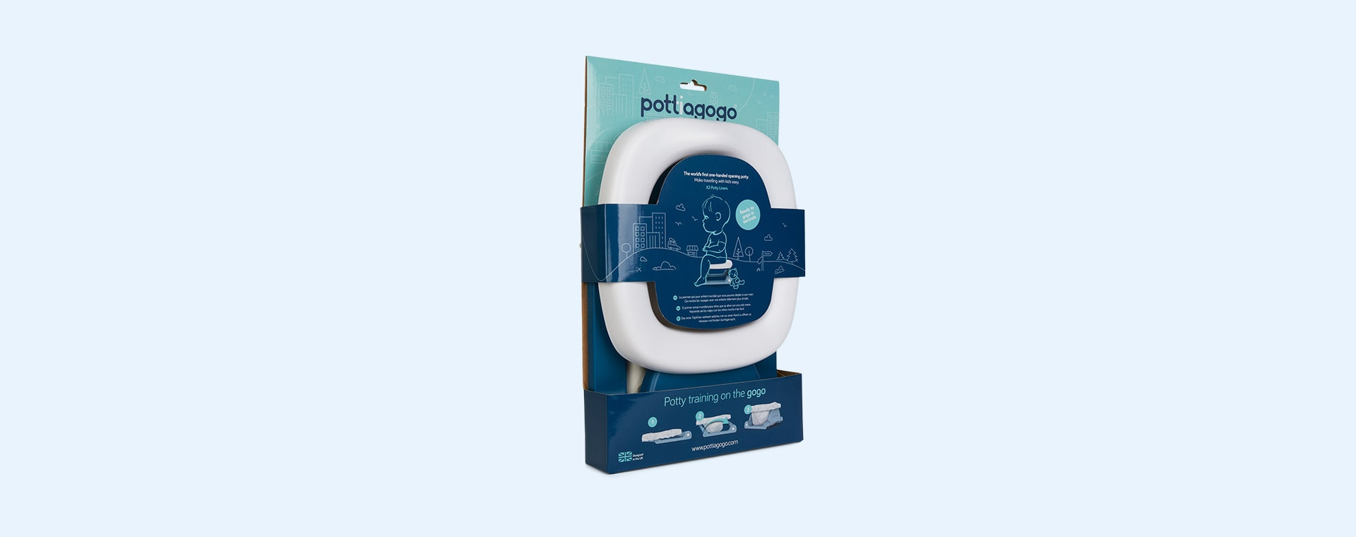 Space Blue Pottiagogo Folding Travel Potty