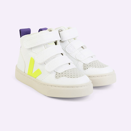 White Jaune-Fluo Purple