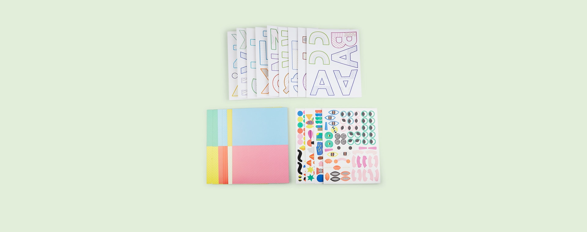 Multi Djeco Create Your Own Letters Craft Set