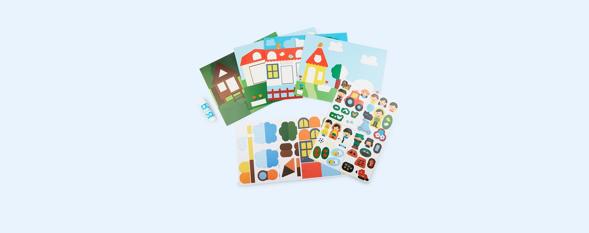 Multi Djeco Lift the Flap Hide & Seek Sticker Set
