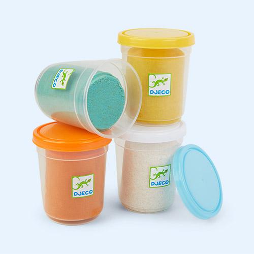 Multi Djeco 4 Pots Of Glittery Play Dough