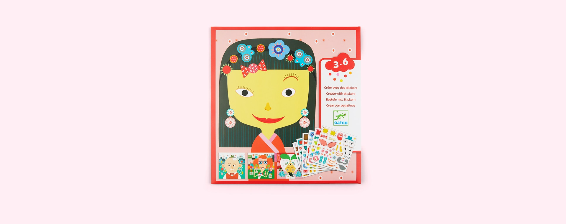 Multi Djeco Create With Stickers All Different