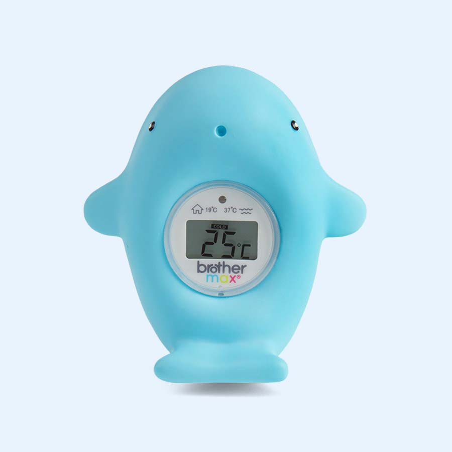 Blue Brother Max Finn Whale Bath and Room Thermometer
