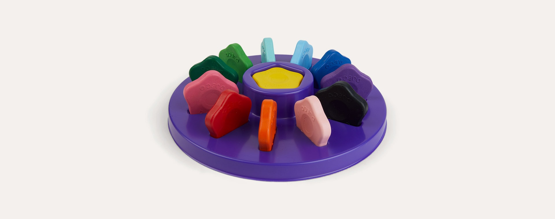 Multi Djeco 12 Flower Crayons For Toddlers