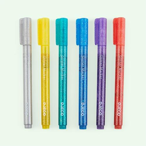 Classic Djeco 6 Glitter Markers Classic Colours