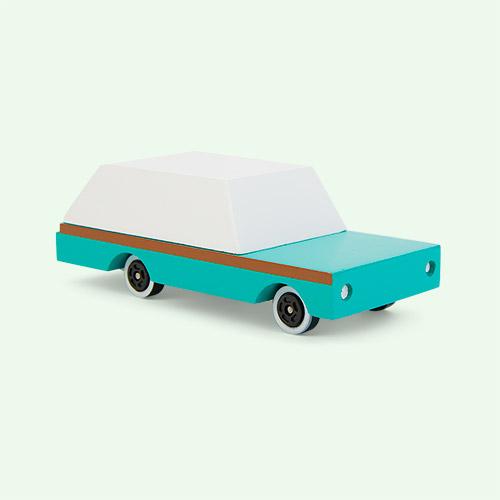 Green Candylab Teal Wagon