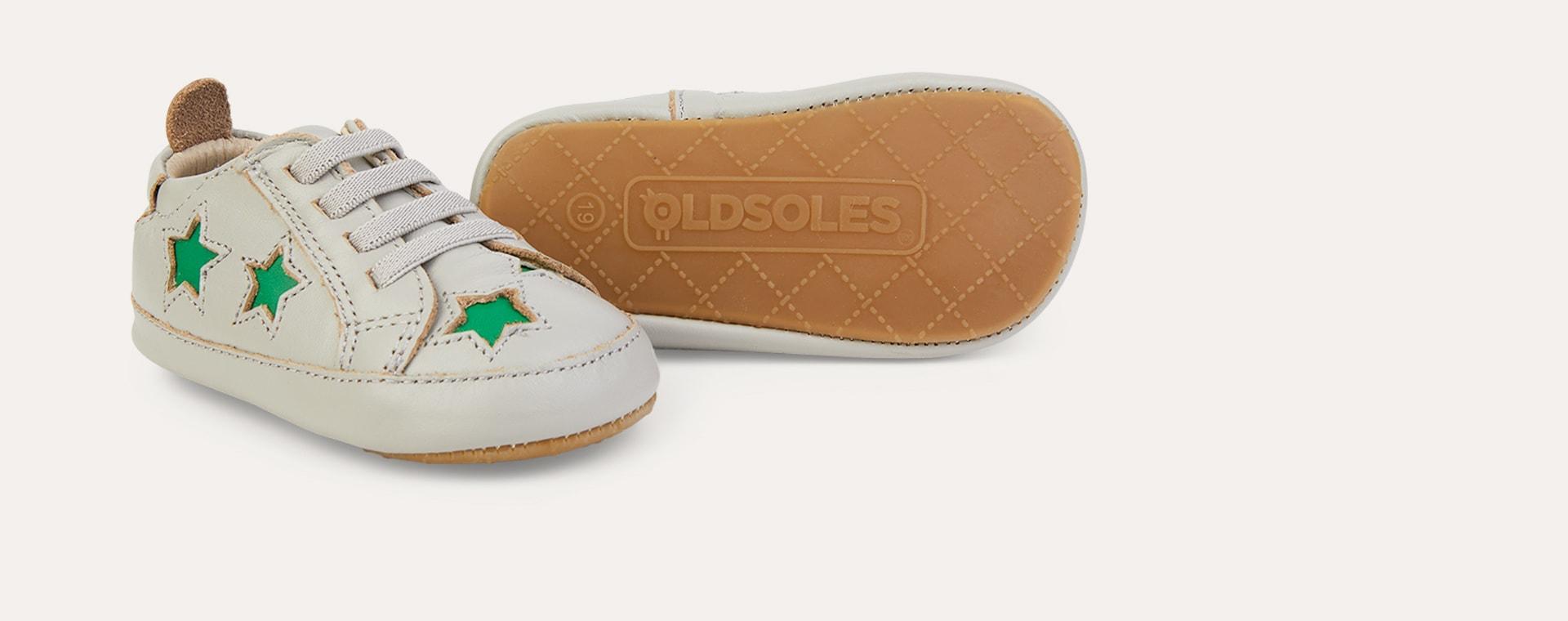 Grey/Neon Green old soles Starey Bambini